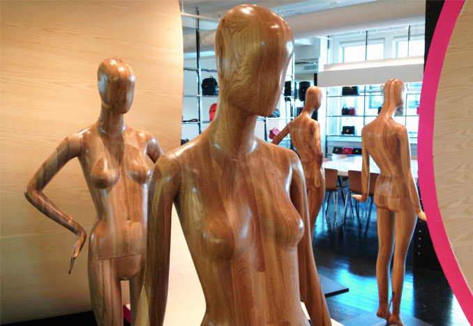 White Oak Mannequins for fashion designer Marc Jacobs