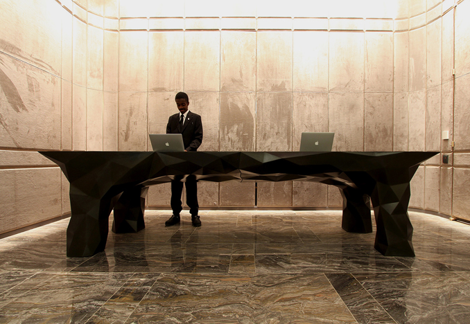 Park Hyatt New York, Reception Desk, design by SITU Studio