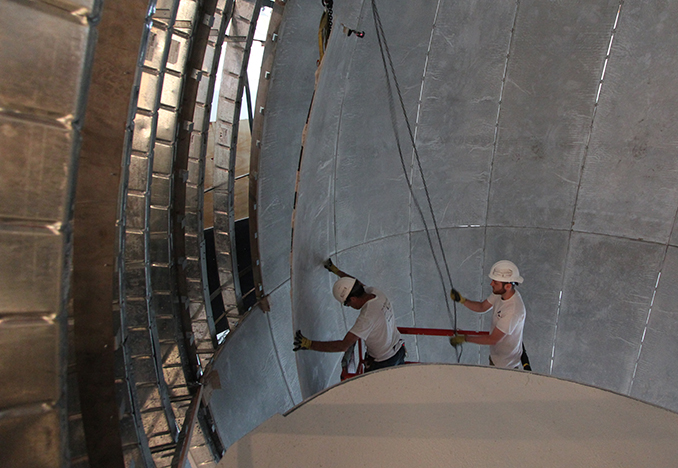 Installation of GFRG panels