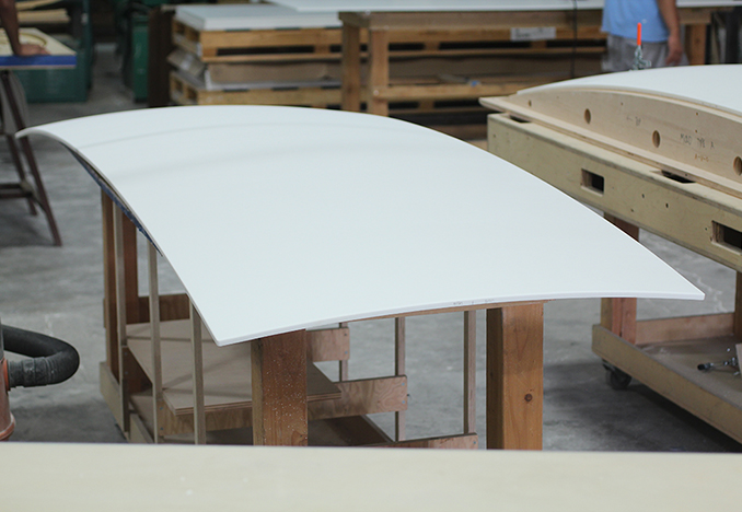Thermoformed exterior Corian panels