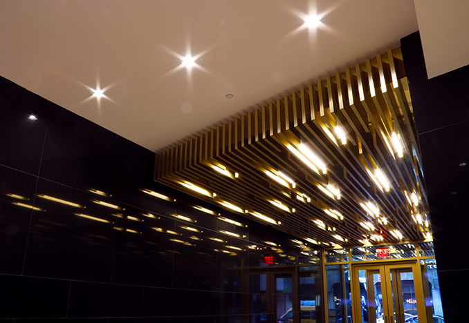 49th Street lobby ceiling feature