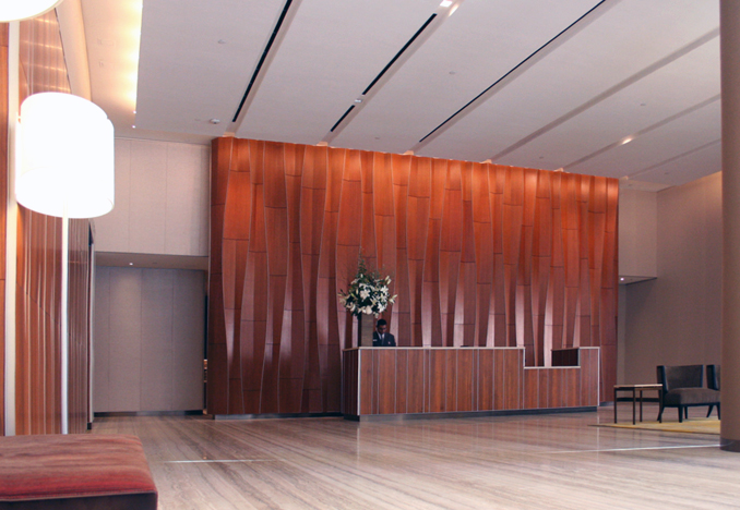 Mout Sinai Residential Tower, Lobby, Photograph by Pelli Clarke Pelli Architects