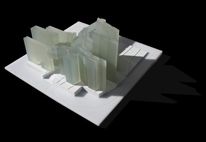 Competition model for Eisenman Architects