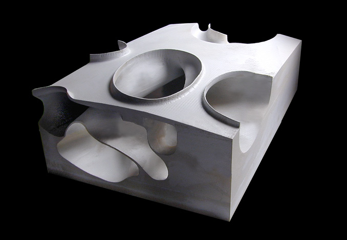 Porto Rico Skate Park, sectional model for Acconci Studio