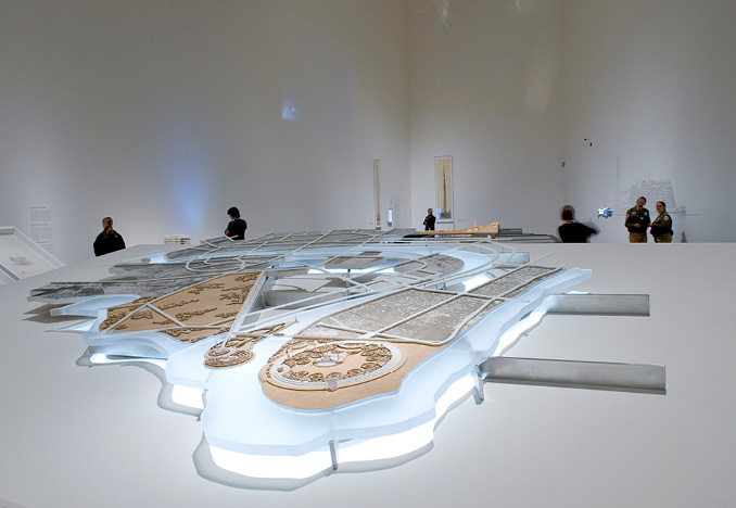 Plan for Greater Baghdad, exhibition model<br>Frank Lloyd Wright: From Within Outward<br>Situ Studio