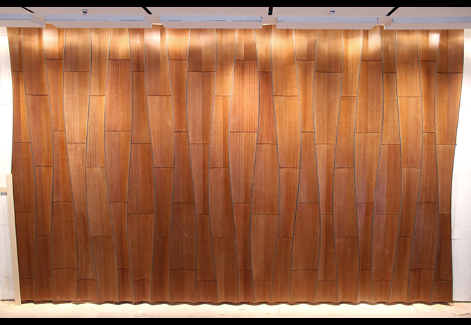 Mount Sinai Residential Tower, Lobby Feature Wall, design by Pelli Clarke Pelli