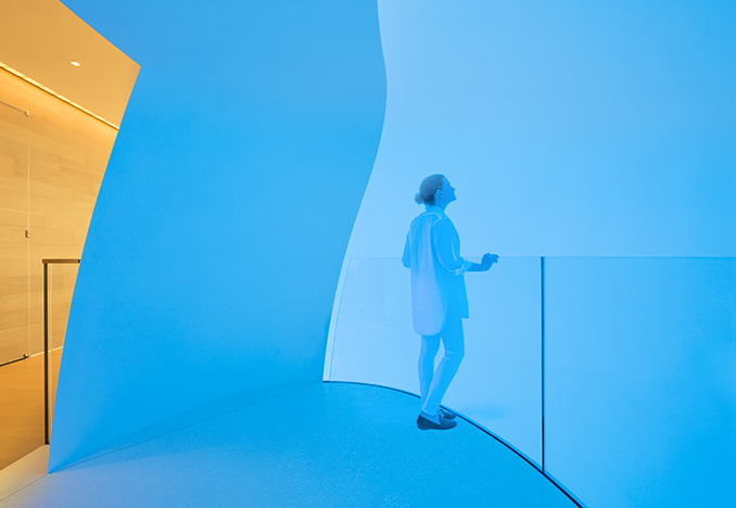 James Turrell <i>Three Saros</i><br>Photo by Michael Moran