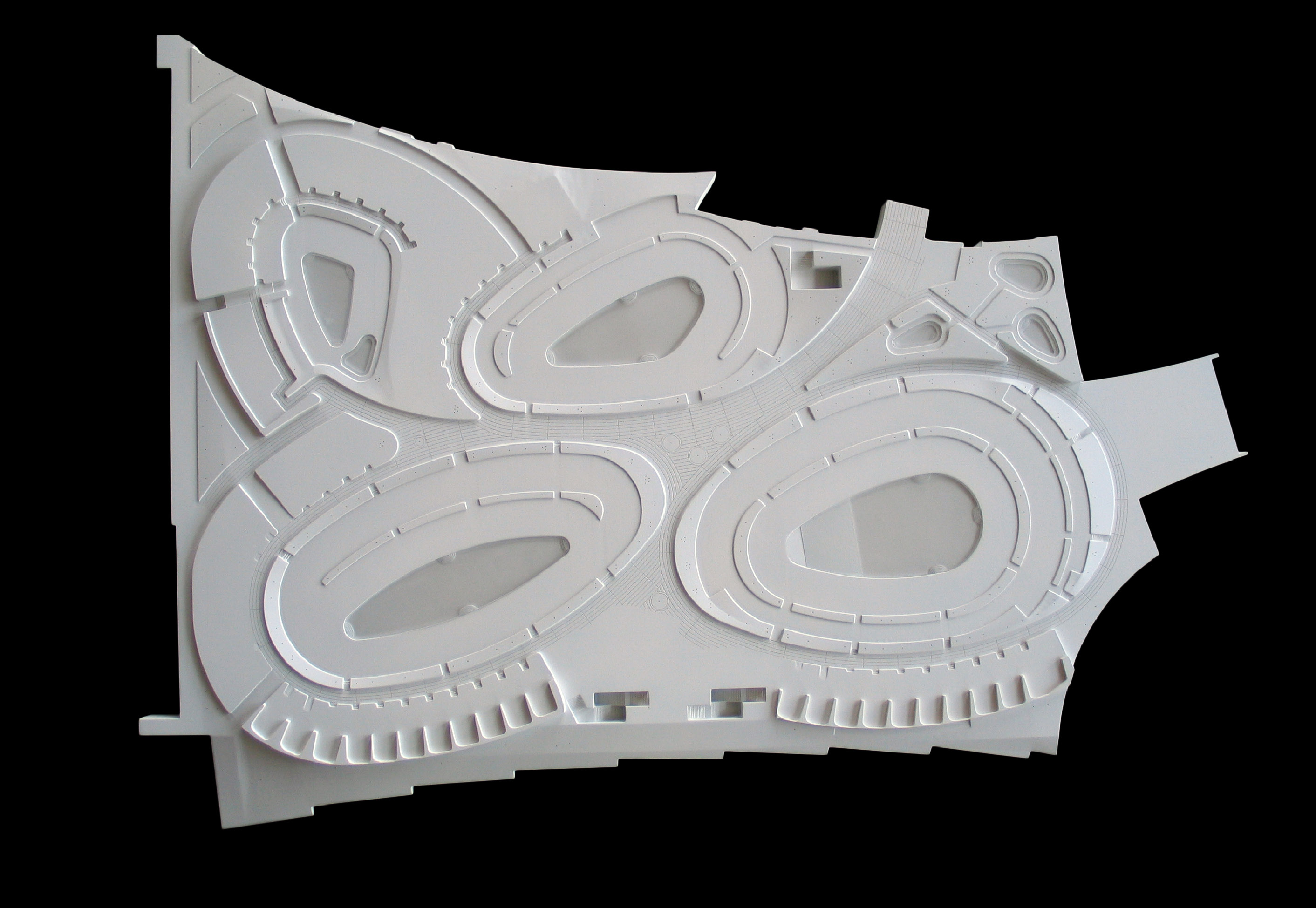 CNC milled, painted, high density foam model for Field Operations