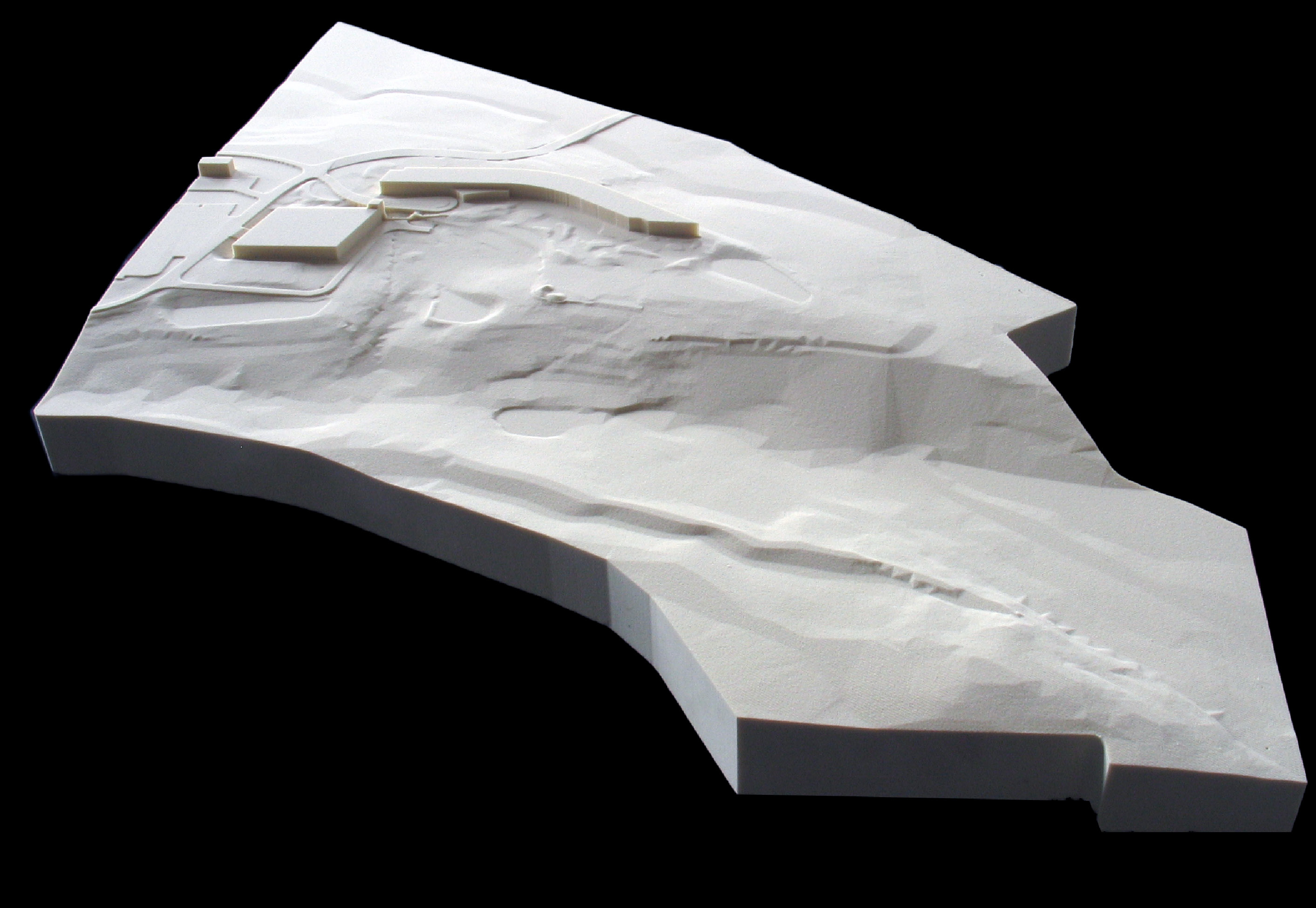 CNC milled, painted, high density foam model for FxFowle Architects