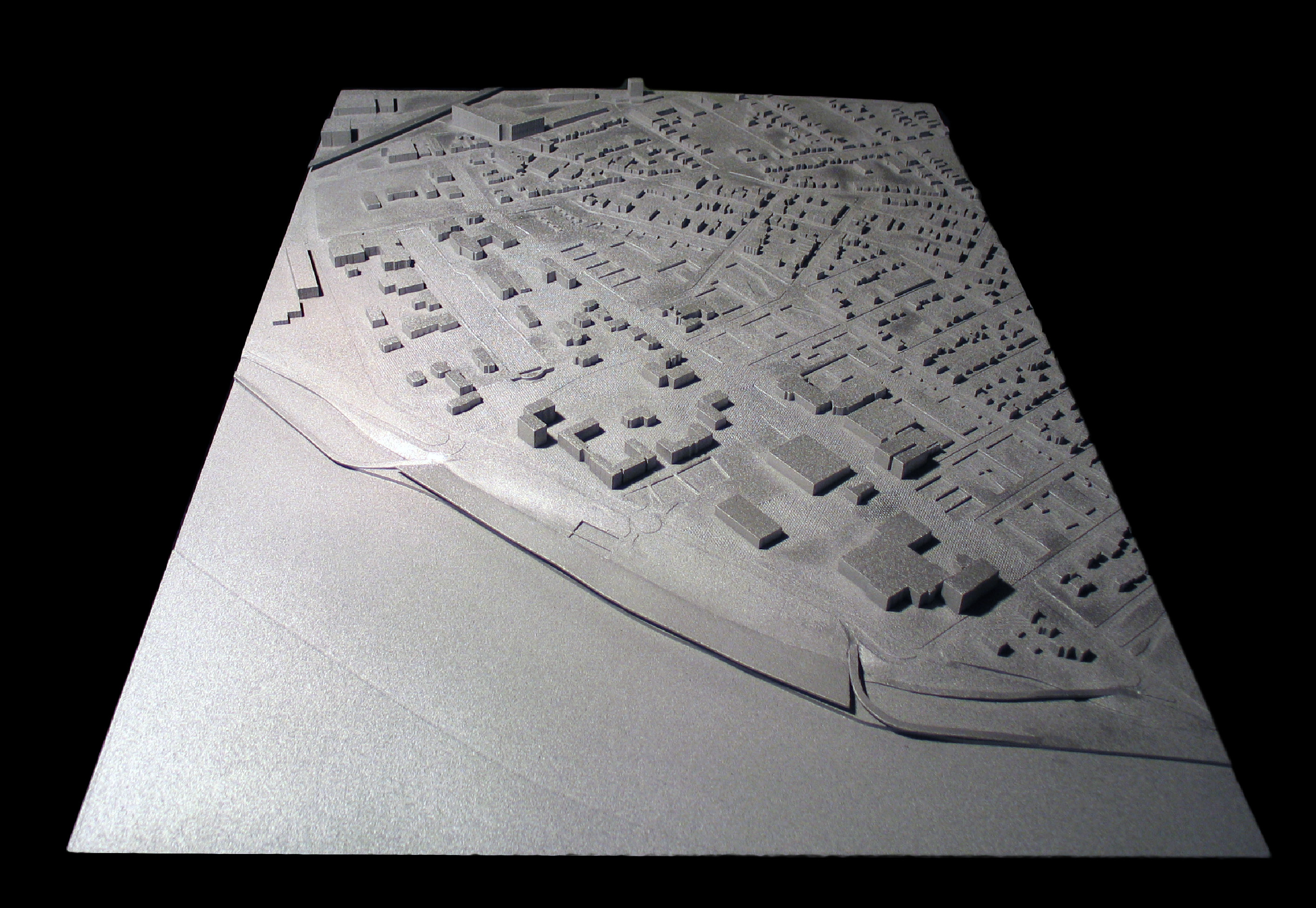 CNC milled, painted, high density foam model for Eisnman Architects